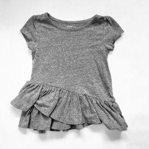 Other - Grey Ruffle Skirt T-Shirt